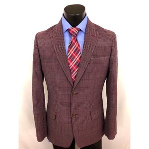 Ben Sherman Plectrum Sport Coat Plaid Gray 38R